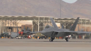 Stock Video Footage of F-22 Raptor  at Red Flag