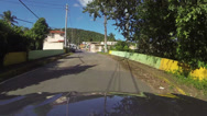 Stock Video Footage of Driving small rural town Puerto Rico POV fast timelapse HD 0248
