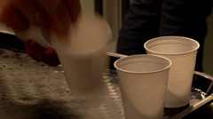 Pouring soda schoolparty Stock Footage