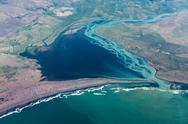 Stock Photo of iceland: aerial photography of the southern coast.