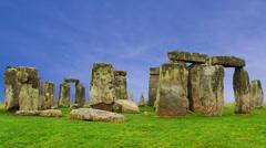 Stonehenge Cloud Timelapse - stock footage