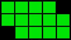 Green rectangles animation with alpha channel Stock Footage