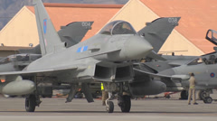 Royal Air Force Typhoon at Red Flag - stock footage