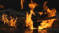 Fatima Sanctuary burning candles worship Stock Footage