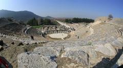 Ephesus Ancient City time lapse Stock Footage