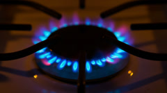 Stock Video Footage of Natural gas Stove burner