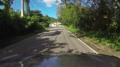 Driving small rural town Puerto Rico POV HD 0248 Stock Footage