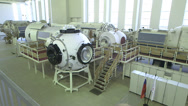 Stock Video Footage of ISS modules wide shot from high position panorama