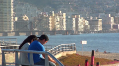 0576  Beaches in Vina del Mar Stock Footage