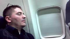 Sleeping Passenger 3970 Stock Footage