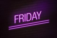 Friday going out concept neon sign Stock Illustration