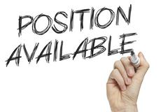 Hand writing new position available Stock Illustration