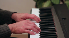 Making mistakes when playing the piano Stock Footage