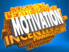 Motivation - Wordcloud Concept. Stock Illustration