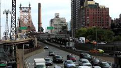 59th Street/Queensborough Bridge Entrance and Exit Stock Footage