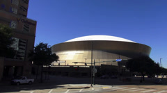 New Orleans Mercedes Benz Superdome - no property release! Stock Footage