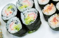 Stock Photo of sushi rolls in plate