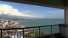 Hua Hin city panorama from Hilton Hotel, Thailand Stock Footage