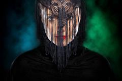 mysterious arabic girl - stock photo