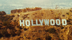 LOS ANGELES, CALIFORNIA – JULY 25TH, 2009: Shot from aircraft at about 1,500'MSL Stock Footage