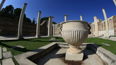 Ruins columns in Synagogue Stock Footage