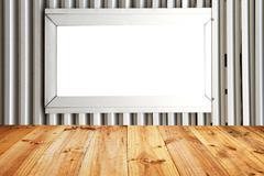 aluminum windows and flooring planks. - stock illustration