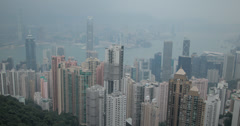 4K video of Hong Kong island and it's skyscrapers Stock Footage