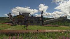 Chicken Alaska Pedro Dredge Welcome Sign Jib Up Stock Footage