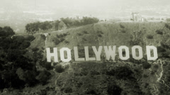LOS ANGELES, CALIFORNIA – JULY 25, 2009: Shot from aircraft at about 1,500'MSL - stock footage