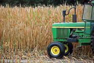 Stock Photo of green farm tractor