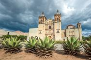 Stock Photo of church of santo domingo de guzman in oaxaca, mexico