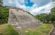 Stock Photo of the great pyramid in uxmal, yucatan, mexico