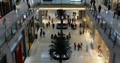 Ultra HD 4K Indoor Dubai Mall Shopping Center People Customer Shop Sale Discount Stock Footage