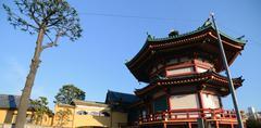 benten do temple in famous ueno park area, tokyo japan - stock photo