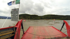 Crossing the Yukon River on the George Black Ferry pt 2 Stock Footage