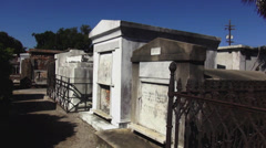 New Orleans St. Louis Cemetery No.1 old graves - stock footage