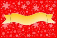 Stock Illustration of yellow ribbons on snow background.