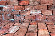 Stock Photo of red brick of background.