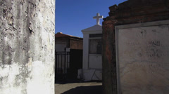 New Orleans St. Louis Cemetery No.1 old graves Stock Footage