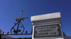 New Orleans St. Louis Cemetery Number One Sign - stock footage