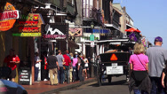 Stock Video Footage of New Orleans French Quarter shops and restaurants