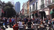 Stock Video Footage of New Orleans French Quarter street musicians