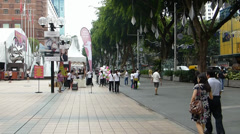 Pedestrian mall of Orchard Road, Singapore. (SG ORCHRD RD--20) Stock Footage