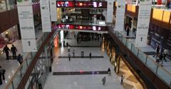 Ultra HD 4K United Arab Emirates Dubai Shopping Center Mall Interior Landmark Stock Footage