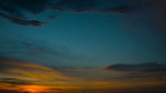timelapse the sky at sunset - stock footage