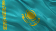 Stock Video Footage of Flag of Kazakhstan - seamless loop