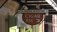 Stock Video Footage of La Habana Hemingway Cigar Bar