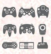 Video Games Remote Controls Stock Illustration