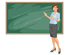 Female Teacher - stock illustration