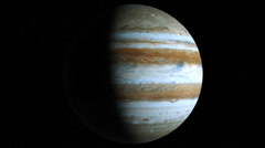 Planet Jupiter rotates in loop mode Stock Footage